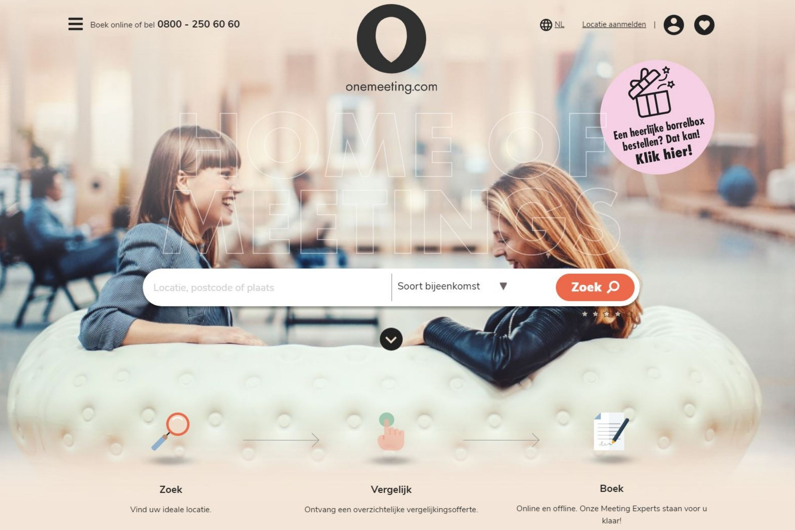 Homepagina Onemeeting.com